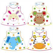 First Steps Wipe Clean Bibs with Novelty Prints