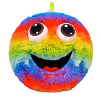 Funny Face Rainbow Ball With 3D Eyes