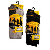 Mens 3 Pairs Work Socks CARTON PRICE