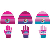 Girls Disney Frozen Childrens Hat & Gloves Set