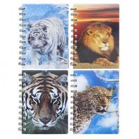 3D Big Cats Note Book