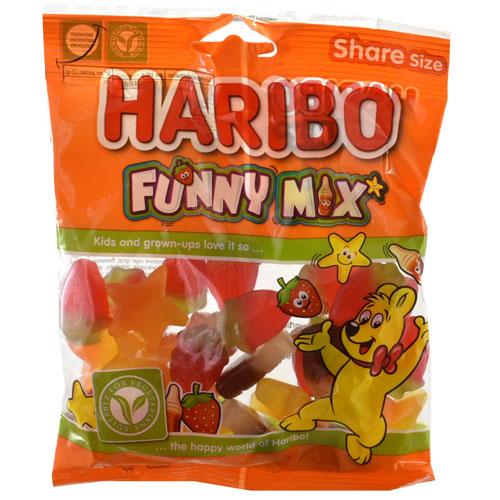Haribo Funny Mix Sweets 140g Bag