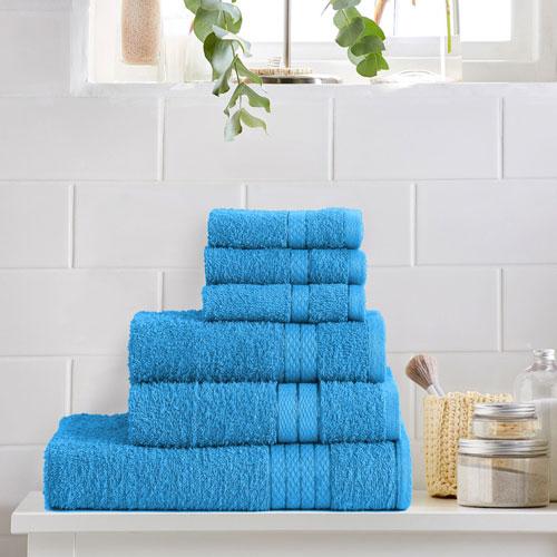 6 Piece Luxury Towel Bale Set Turquoise
