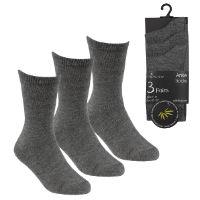 Kids 3 Pack Bamboo Ankle Socks Grey