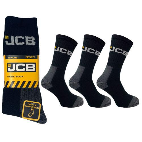 3 Pack Official JCB Work Socks