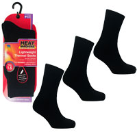 Ladies Heat Machine 1.6 Tog Thermal Socks Black