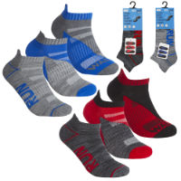 Boys 3 Pack Trainer Socks Run Walk Jog