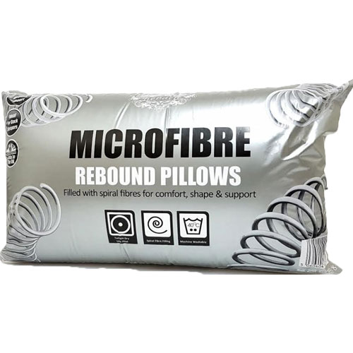 Microfibre Rebound Pillows Medium Support