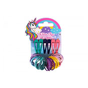 Kids Unicorn Design Hair Clips 6 Pack
