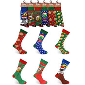 Mens Christmas Santa Socks Novelty
