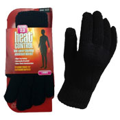 Ladies Heat Control Thermal Gloves 2.3 Tog Black