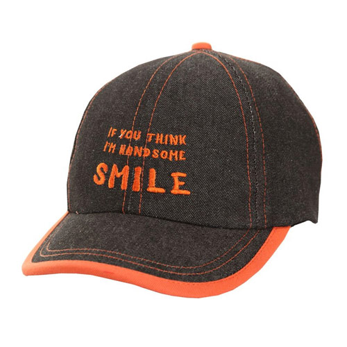 Childrens Denim Baseball Caps with Slogan