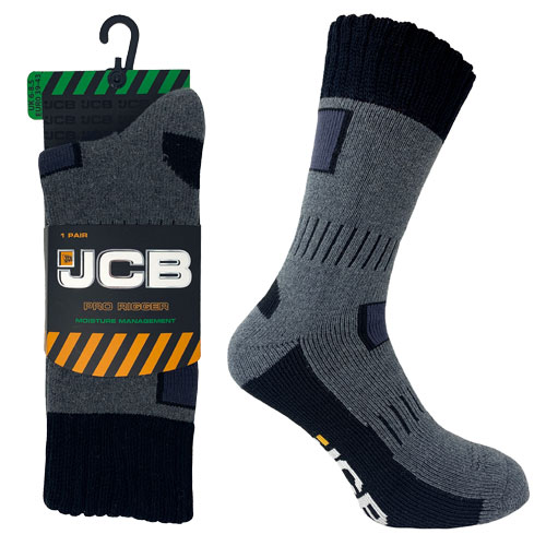 JCB 1 Pair Mens Rigger Boot Sock 6-8.5