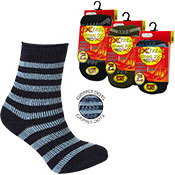 Boys Extreme Tog Thermal Socks With Grippers Stripes