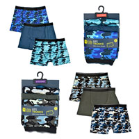 Boys 3 Pack Camo Boxers
