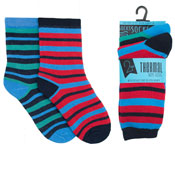 Boys Thermal Stripe Design Socks