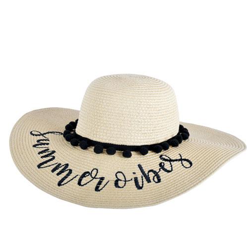 Ladies Summer Vibes Wide Brim Hat