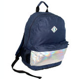 Backpack With Iridescent Panel Blue