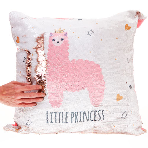 Little Princess Sequin Filled Cushion
