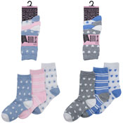Girls Assorted Design Socks