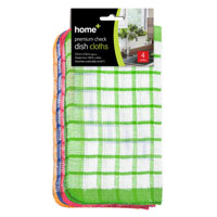 Check Dish Cloths 4 Pack