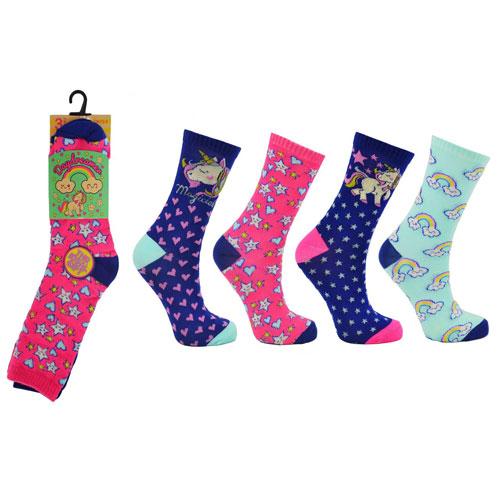 Unicorn Daydreamer Childrens Novelty Socks