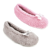 Ladies Basic Coral Fleece Ballet Slippers
