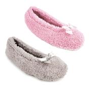 Ladies Basic Coral Fleece Ballet Slippers