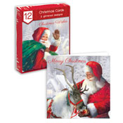 Traditional Christmas Cards Santa