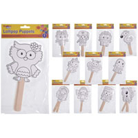 Lollipop Colour your Own Puppets