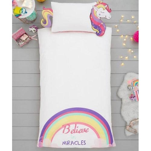 Creative Novelty Shaped Duvet Reversible - Unicorn