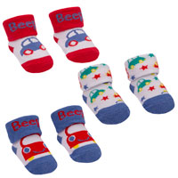 Baby Boys Car Design Socks In Gift Bag