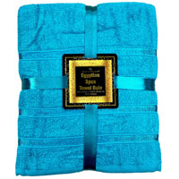 Luxurious Egyptian Cotton 3 Piece Towel Bale Turquoise