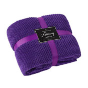 Luxury Popcorn Throw Purple 200 x 240cm