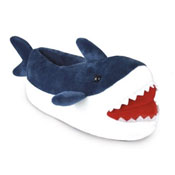 Mens Novelty Shark Soft Fleece Slipper