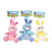 Pastel Bunny Rabbit Clip On Toy