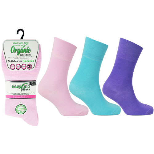 Ladies Wellness Organic Cotton Socks Toronto