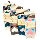 Ladies Fancy Design Ankle Socks Diamond Heart