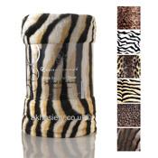 Mink Faux Fur Throw Tiger Print