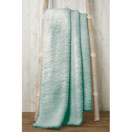 Soft and Cosy Teddy Blanket Throw Duck Egg