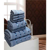 Luxurious Egyptian Blue 8 Piece Towel Bale
