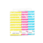 Assorted Bright Paper Straws 40 Pack