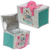 Cake & Prosecco Print Woven Picnic Bag