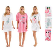 Ladies Tropical Printed Sleepy Tee Nightie