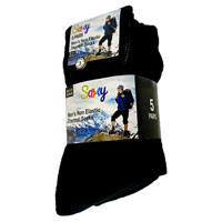 Mens 5 Pack Non Elastic Thermal Socks