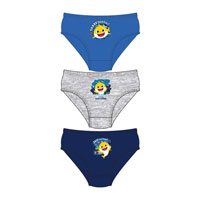 Official Boys Baby Shark Briefs 3 Pack