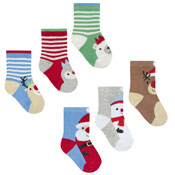 Baby Christmas Snowman Cotton Rich Festive Socks