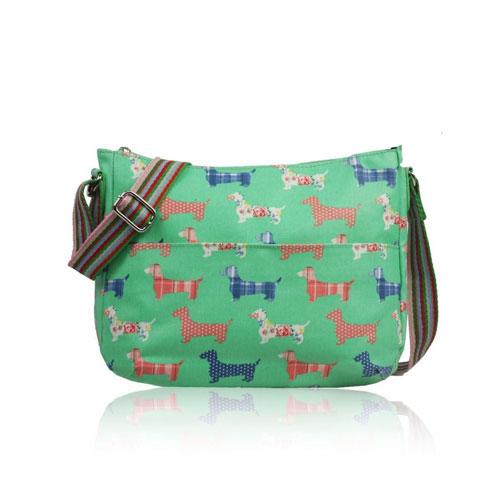 Sausage Dog Multi Purpose Crossbody Bag Green