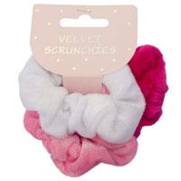 3 Velvet Hair Scrunchies