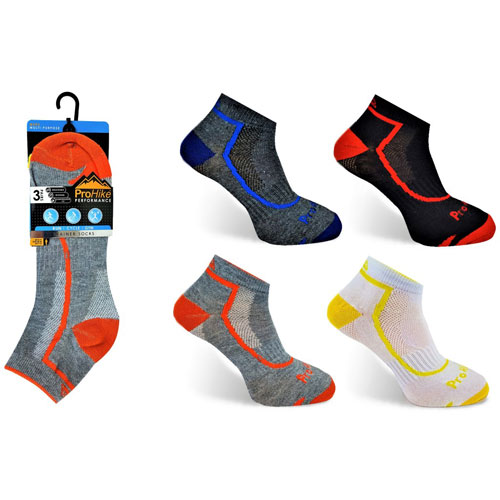Mens High Viz ProHike Trainer Socks
